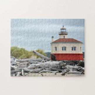 灯台および海岸の景色のパズル ジグソーパズル