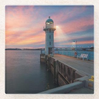 灯台は|のマリーナ、シンガポールを富くじで売ります ガラスコースター