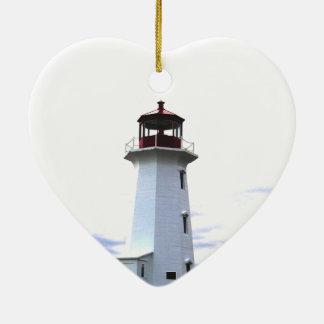 灯台オーナメントのペギーの入江ノバスコシア セラミックオーナメント