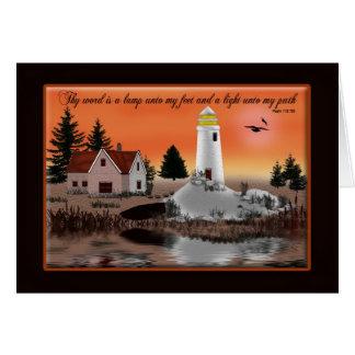 灯台キリスト教カード-数々のな目的 グリーティングカード