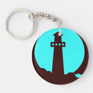 灯台シルエット キーホルダー