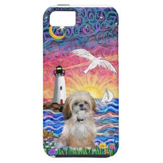 灯台及びカモメ- (p)シーズー(犬) Tzu iPhone SE/5/5s ケース