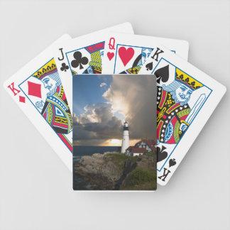 灯台日没: ポーツマス、ニューイングランド バイスクルトランプ