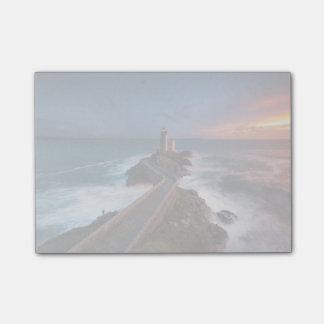 灯台日没Plouzané | Finistère、ブリッタニー ポストイット