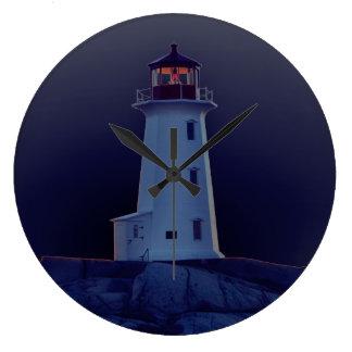 灯台柱時計のペギーの入江ノバスコシア ラージ壁時計