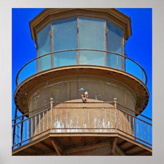 灯台柵ポスターの白頭鷲 ポスター