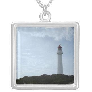 灯台棚のネックレス シルバープレートネックレス