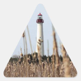 灯台 三角形シールステッカー