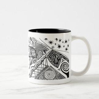 灯台、灯台 ツートーンマグカップ