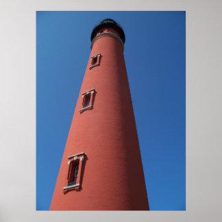 灯台Ponceの入口のDaytona Beachフロリダの写真 ポスター