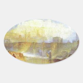 灰とのローマ古代Agrippinaの着陸 楕円形シール