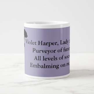 灰の女性、ジャンボマグ-すみれ色のハープ奏者 ジャンボコーヒーマグカップ