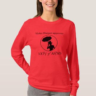 灰の女性、女性ティー-バイオレットは承認します Tシャツ
