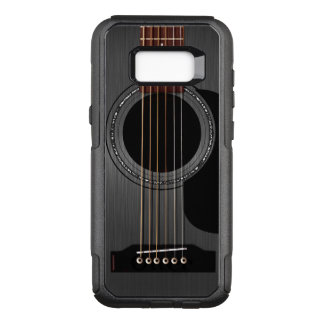 灰の黒いアコースティックギター オッターボックスコミューターSamsung GALAXY S8+ ケース