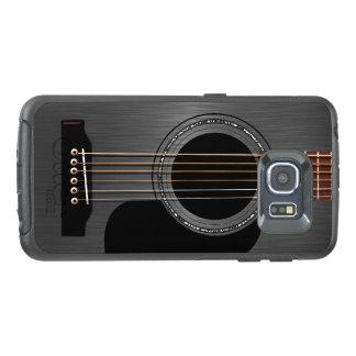 灰の黒いアコースティックギター オッターボックスSamsung GALAXY S6 EDGEケース