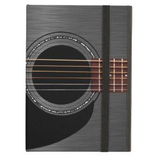 灰の黒いアコースティックギター iPad AIRケース