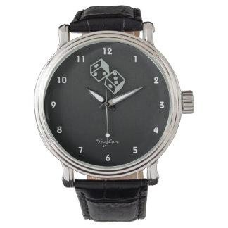 灰灰色のサイコロ 腕時計