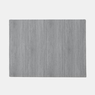 灰灰色のタケ木製の穀物の一見 ドアマット