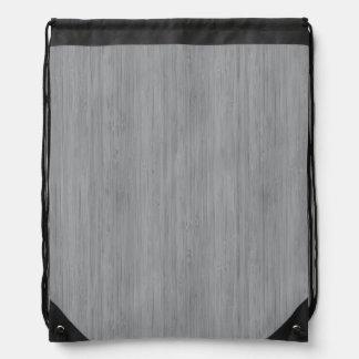 灰灰色のタケ木製の穀物の一見 ナップサック