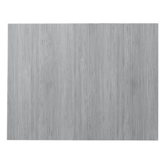 灰灰色のタケ木製の穀物の一見 ノートパッド