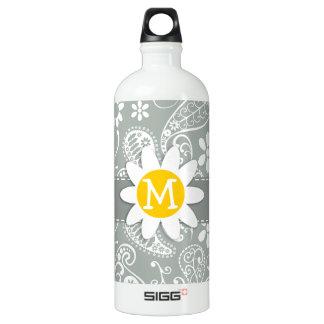 灰灰色のデイジー; 灰色のペイズリー ウォーターボトル