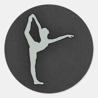 灰灰色のバレエダンサー ラウンドシール