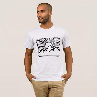 灰灰色のロドニーリッジ山のロゴの人のTシャツ Tシャツ