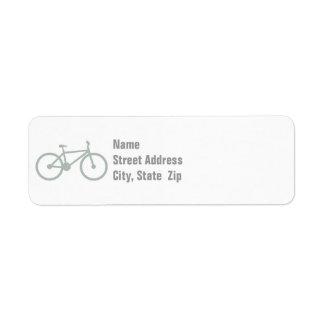 灰灰色の自転車 ラベル