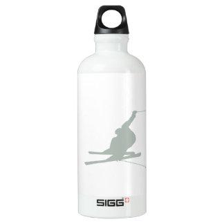 灰灰色の雪のスキー ウォーターボトル