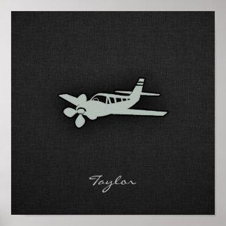 灰灰色の飛行機 ポスター