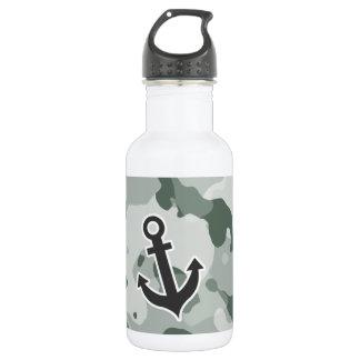 灰灰色; 灰色の迷彩柄; いかり ウォーターボトル