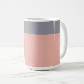灰色および珊瑚のマグ コーヒーマグカップ