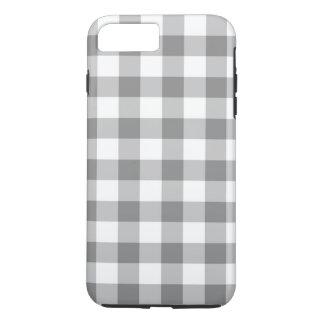 灰色および白いギンガムの点検パターン iPhone 8 PLUS/7 PLUSケース