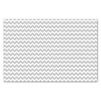 灰色および白いシェブロンパターン習慣 薄葉紙