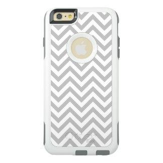 灰色および白いジグザグ形のストライプなシェブロンパターン オッターボックスiPhone 6/6S PLUSケース