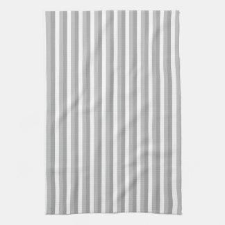 灰色および白いストライブ柄。 パターン キッチンタオル