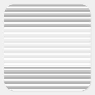 灰色および白いストライブ柄。 パターン スクエアシール