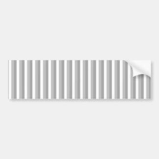 灰色および白いストライブ柄。 パターン バンパーステッカー
