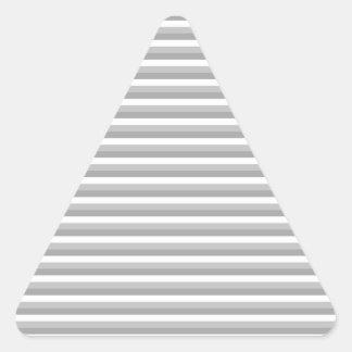 灰色および白いストライブ柄。 パターン 三角形シール