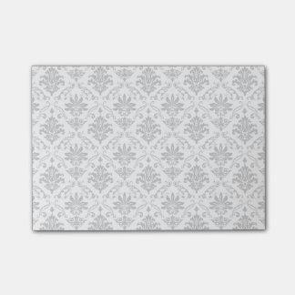 灰色および白いダマスク織 ポストイット