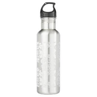 灰色および白いダマスク織BPAは放します ウォーターボトル