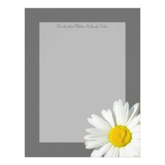 灰色および白いデイジーの名前入りな静止した紙 レターヘッド