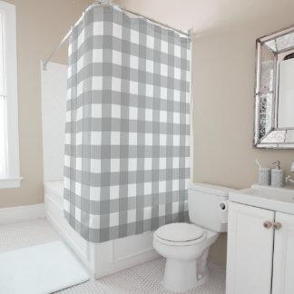 灰色および白いバッファローの点検のシャワー・カーテン シャワーカーテン
