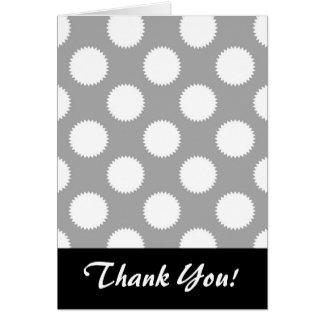 灰色および白い水玉模様パターン カード