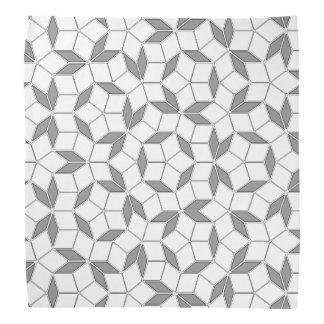 灰色および白いPenroseのタイルのバンダナ バンダナ