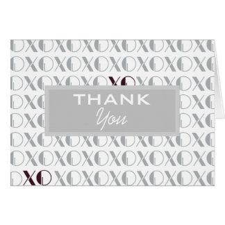 灰色および白いXOXO カード