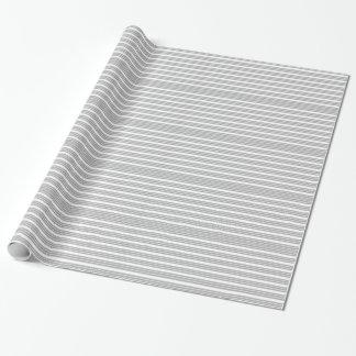 灰色および白くストライプのな包装紙 ラッピングペーパー