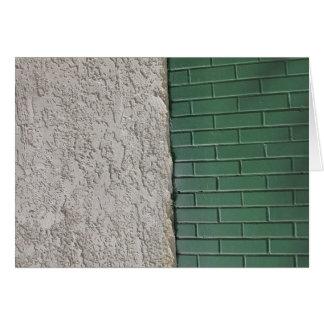 灰色および緑 カード