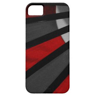 灰色および赤いファンの終わり iPhone 5 Case-Mate ケース