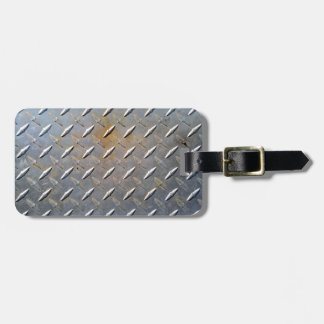 灰色および錆ついた鋼鉄金属のダイヤモンドパターン ラゲッジタグ